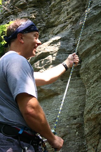 Rock Climbing Belayer