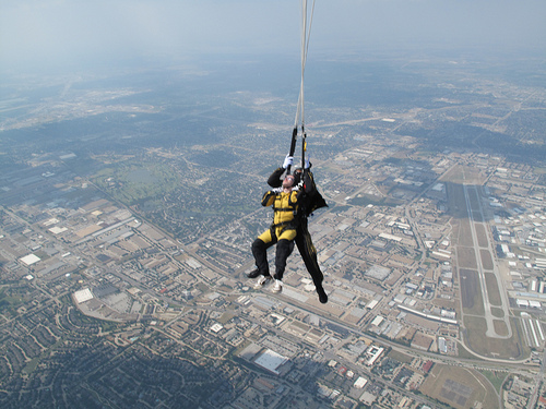 Sky Diving in Texas