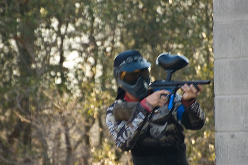 Paintballing Sniper