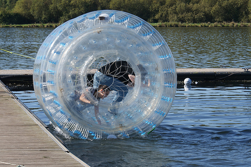 Zorbing at the Russian Olympics