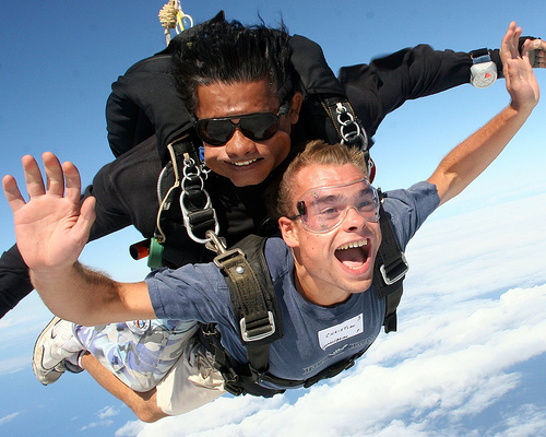 Skydive weight limit