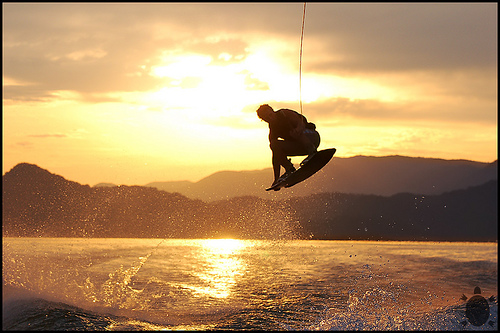 Wakeboarding in Spain