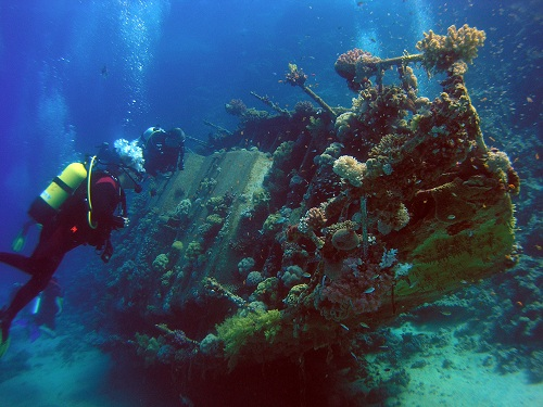 Diving artificial reefs