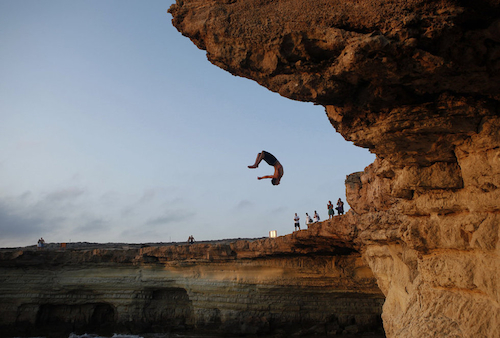 Cliff Diving Jump