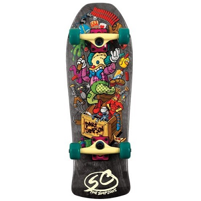 Santa Cruz Skate Simpsons Bart Toybox Mini Cruzer Skateboard Deck