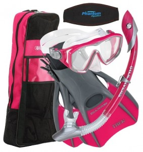 US Divers Diva Travel Bag With Snorkel, Mask and Fins