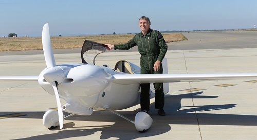 Christian Guilie with his winning aircraft_IMAGE_CREDIT_ANTHONY_QUAYLE